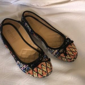 REPORT MULTICOLORED BALLET SHOES SIZE 8 PREOWNED